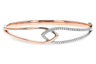 G235-44168: BANGLE BRACELET .50 TW (ROSE & WG)
