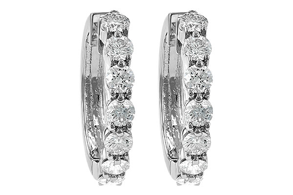 K047-21377: EARRINGS 2 CT TW